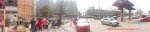 火锅店前方的全景图