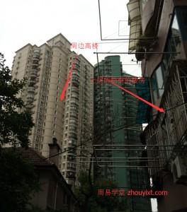 周围的楼群与所居住楼对比2
